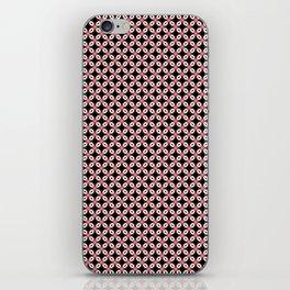 Pink Black Star Pattern iPhone Skin
