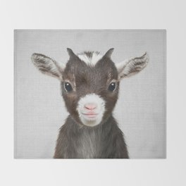 Baby Goat - Colorful Throw Blanket