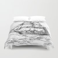 marine Duvet Covers featuring marine by ismailburc