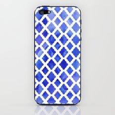 Watercolor Diamonds in Cobalt Blue iPhone & iPod Skin