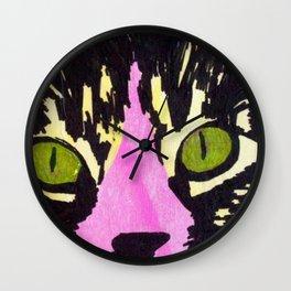 Pop Art Cat No. 1 Wall Clock