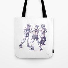 Freud, Jung, and Watts, walk into a bar... Tote Bag