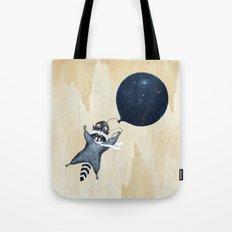 Raccoon Balloon Tote Bag