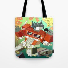Optimus Prime DARE to keep your dreams alive! Tote Bag