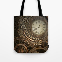 Steampunk Clockwork Tote Bag