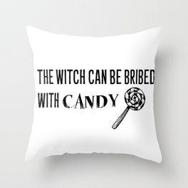 Bribe the Witch Throw Pillow