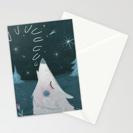 Howling in the night Stationery Cards