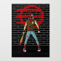 hotline miami Canvas Prints featuring Hotline Miami by 100rings