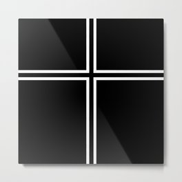 KOF Kyo Kusanagi Cross Metal Print