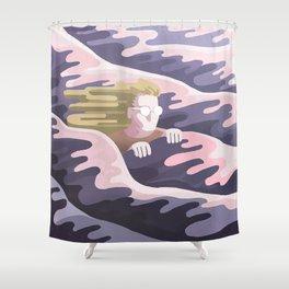 Dans la vague Shower Curtain