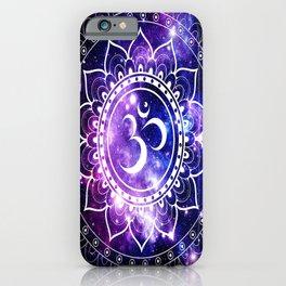 om mandala: purple blue space iPhone Case