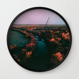 north dakota fall Wall Clock