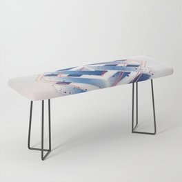 Indigo Hexagon :: Floating Geometry Bench