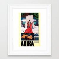 manga Framed Art Prints featuring Manga 05 by Zuno