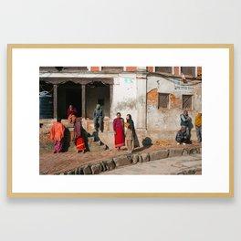 Bhaktapur Streets Framed Art Print