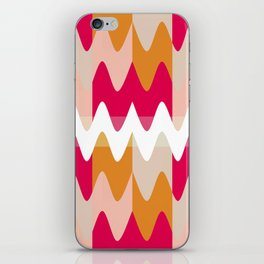 Pattern Vagues Colors Rose/Orange iPhone Skin