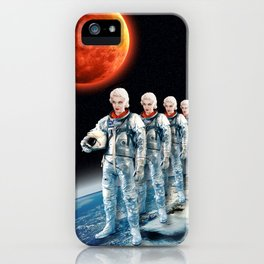 SPACE AWAITS JEAN HARLOW iPhone Case