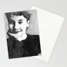 Happy girls are the prettiest Stationery Cards