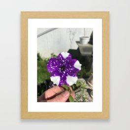 Cosmic Flower Framed Art Print