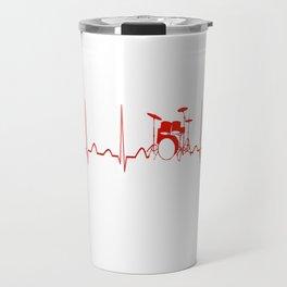 DRUMS HEARTBEAT Travel Mug