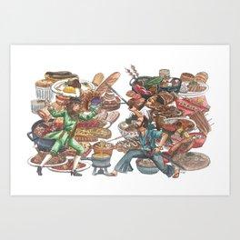 Clash of Food Cultures Art Print