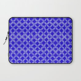 tie dye texture with geometric border Laptop Sleeve