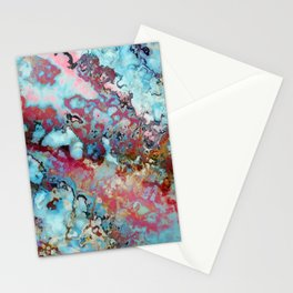Colorful abstract marble II Stationery Cards
