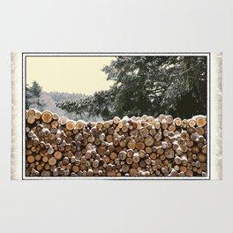 MILD WINTER FIREWOOD Rug