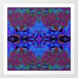 Cobalt Hex Art Print