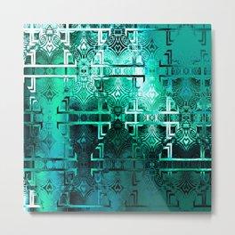 1001 Lights Pattern (emerald jungle) Metal Print