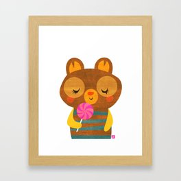 Lolli Bear Framed Art Print