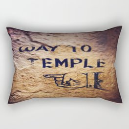 Way to Temple, 2015 Rectangular Pillow