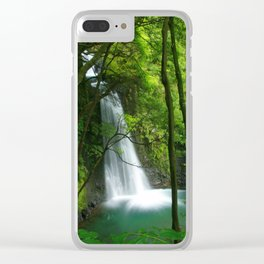 Waterfall in the Azores Clear iPhone Case