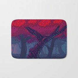 Pixel Red Forest Bath Mat
