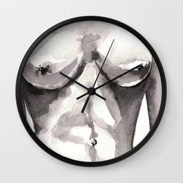 nude study in watercolours 050218 Wall Clock