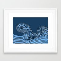 hokusai Framed Art Prints featuring Hokusai by Jose Luis