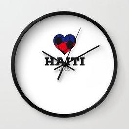 Haiti Soccer Shirt 2016 Wall Clock