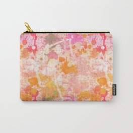 Abstract Paint Splatters Pink & Orange Carry-All Pouch
