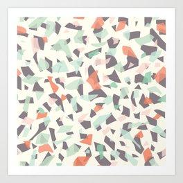 Terrazzo Mosaic Style A Art Print
