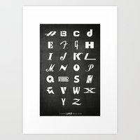 ABC's Of Iconic Music Brands Art Print