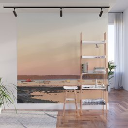 Pink Sunset Over the Harbor Wall Mural
