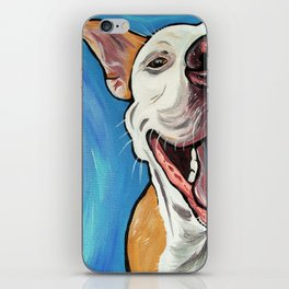 Smiling Pit Bull  iPhone Skin