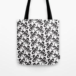 Quirky Black & White Tote Bag