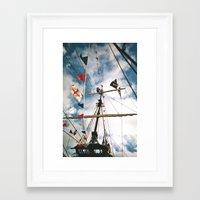 pirate ship Framed Art Prints featuring Pirate Ship by For the easily distracted...