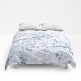 White Abstract Sea Comforters