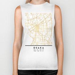 OSAKA JAPAN CITY STREET MAP ART Biker Tank