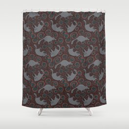 Raccoon Roundabout  Shower Curtain