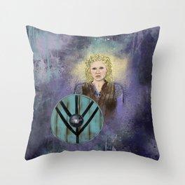 Lagertha, Shieldmaiden Throw Pillow
