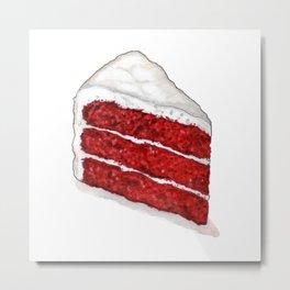 Desserts: Red Velvet Cake Metal Print