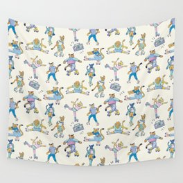 The Wildcats; Retro Rollerskating Illustration Wall Tapestry
